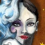 Affiche concert Dragqueen et femmes à barbe - Association Au Puits - 2015