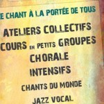 Plaquette ateliers Le Cri du Choeur - 2015